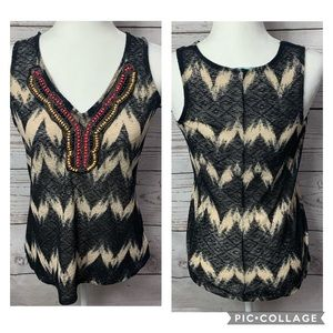 NWOT Maurices Chevron Embellished Tank Top
